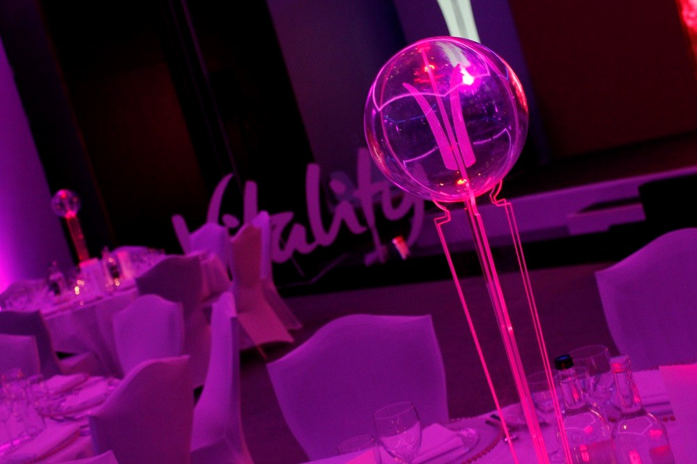 led table centres - Table Art for Corporate Events - Guest blog