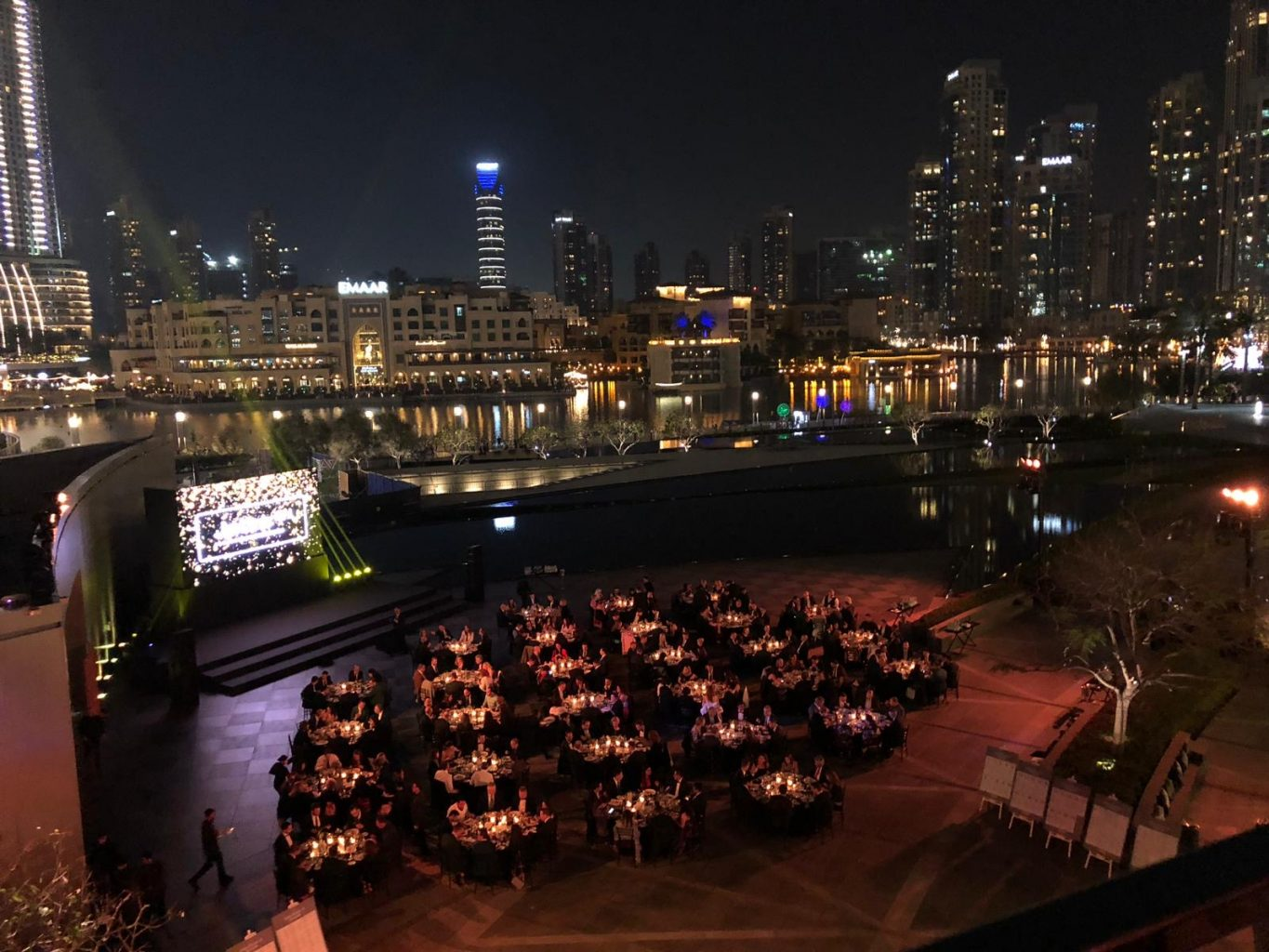 Dubai gala dinner Armani terrace 3 - Gala Dinner on the Armani Terrace, Dubai